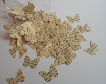 100 Paper Butterflies, Butterfly Punches, Confetti, Paper Embellishment, Butterfly die cuts