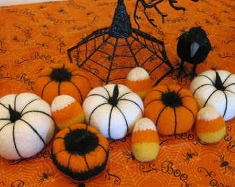 Halloween Table Decorations -Pumpkins & Candy Corn