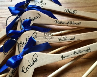 Bridesmaid gift, Personalized hangers, Bridesmaid Dress Hanger, Bridesmaid Gift Hangers, Bride hanger, Customized Hanger, Bridal Shower Gif