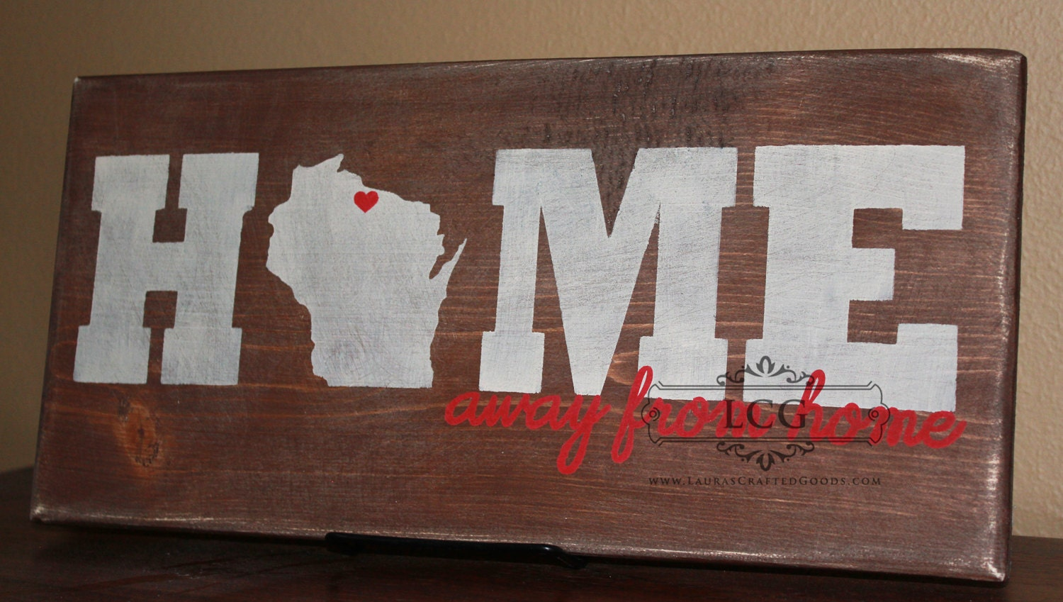 Home Away From Home Home Home State Sign by LaurasCraftedGoods