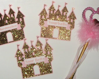 Princess Castle Candy Buffet Name tags
