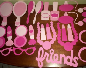 Make-Up Photo Booth Props
