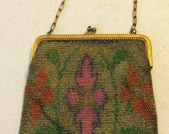 Clearance: Vintage mesh flapper bag made in Germany.