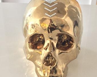Metallic Gold Skull