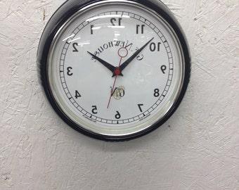 Retro Syle Backwards Clock