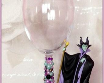 Disney Malificent Wine Glass