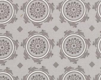 1/2 yd SALE Jubilee Bunny Medallion by Bunny Hill Designs for Moda Fabrics 2853 20 Grey