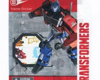 126 Transfermers Waterproof Name Stickers + Free Transformers folder !!!