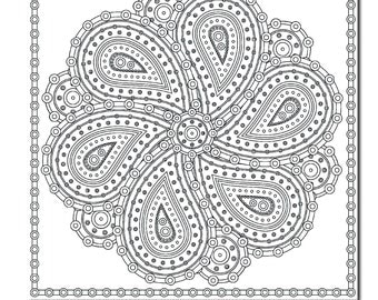 paisley coloring pages pdf