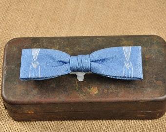 Vintage Clip On Bow Tie-WWII Era Bow Tie-Retro Bow Tie-Redi-Bow