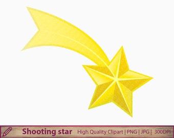 Shooting star clipart, shooting star clip art, scrapbooking, commercial use, digital instant download, jpg png 300 dpi