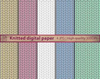 Knitted digital paper, knit pattern wallpaper, crochet background, scrapbooking, commercial use, digital instant download, jpg 300dpi