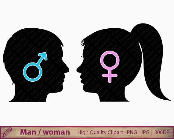 Man woman silhouette clipart boy girl icon head clip art