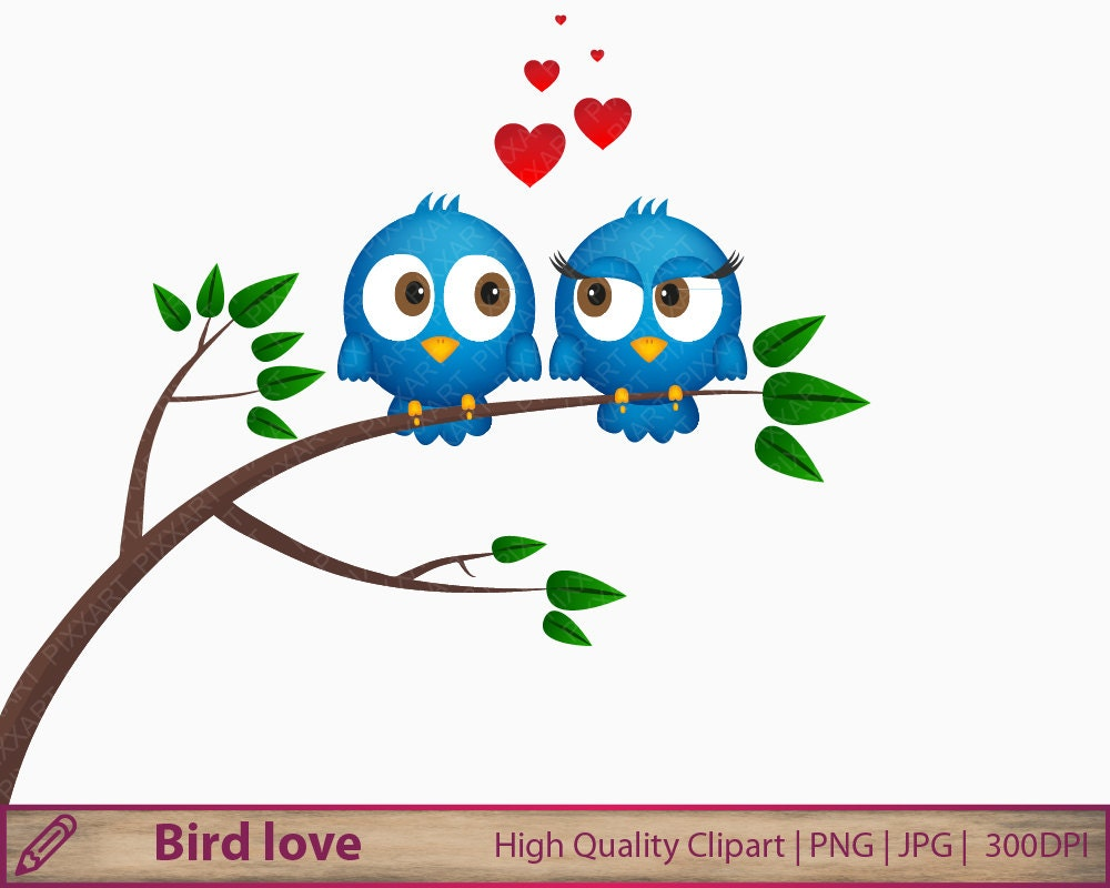 Love clipart, valentine birds clip art, cute blue bird ...
