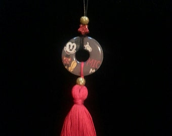 Mickey Mouse tassel pendant