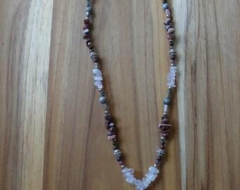Rhodonite & Rose Quartz Necklace