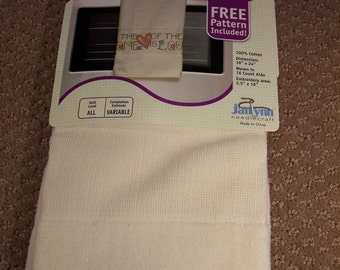 Stitchables Cross Stitch Kitchen Towel Ivory