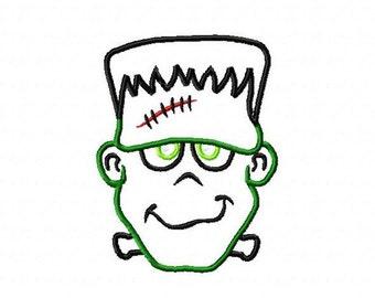 Frankenstein Applique Embroidery Design, 4x4, 5x7, 6x10 Hoop, Instant Download