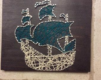 Ship string art