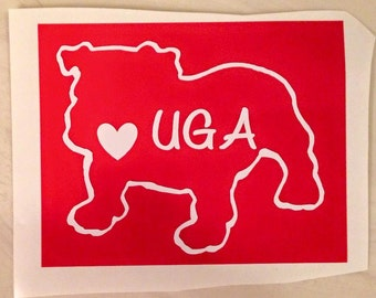 UGA decal sticker