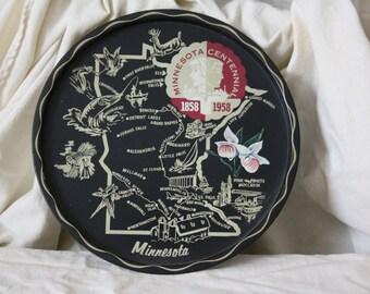 Vintage State Souvenir Tray