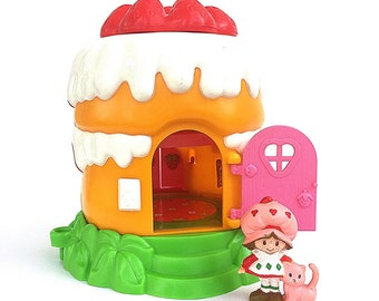 Strawberry Shortcake House | Strawberry Shortcake Strawberryland Miniatures Playset | 1980s Vintage Strawberry Shortcake | Original Box |