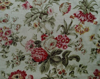 "2.3 yards x 54"" Braemore Floral Home Decorator Fabric"