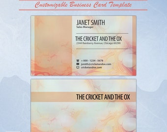 Paper Marbling Business Card Template