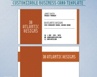 Art Deco Wave Business Card Template