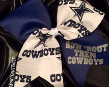 DALLAS COWBOYS cheer bow
