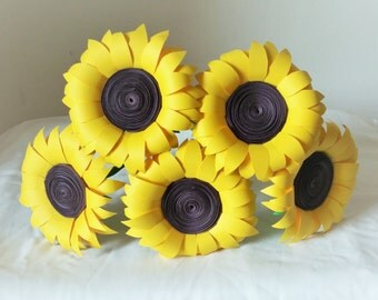 Paper Sunflower  / Flowers / Sunflower / Centerpiece / Decorations / Home Decor / Wedding Decor / Handmade