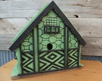 Swiss chalet birdhouse