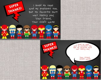 Superhero Thank You Note, Superheroes Thank You, Thank You, Thank You Note,Superheroes, Superhero