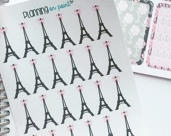 Paris Eiffel Tower with a Bow Planner Stickers!