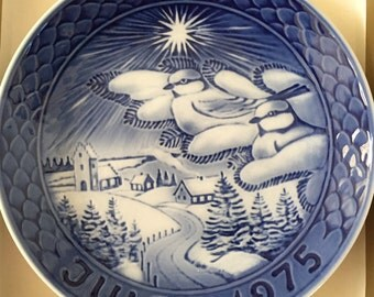 Grande Porcelain of Copenhagen 1st edition collector plate -1975