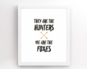 We Are The Foxes Taylor Swift - Gift Her Him Friend Family Birthday Wall Art Poster Print Gallery Wall Decor - 4x6 5x7 8x10 - 0052