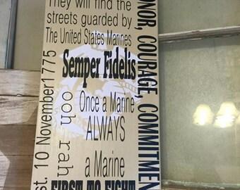 USMC Subway Style Marine Corps Hymn EGA