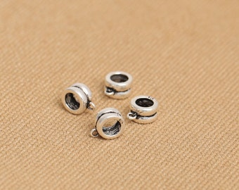 Antique 925 Sterling Silver Bali Style SS Spacer Beads Small Charm with Jump Ring S299