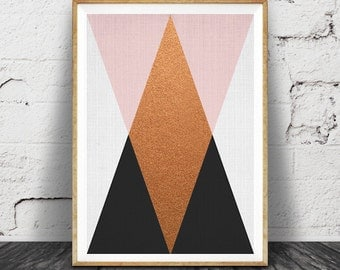 Geometric Wall Art geometric wall art | etsy