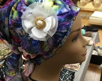 Satin head scarf, silky head covering, scarf, Jewish head wrap