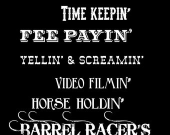Barrel Racer's Mom tshirt  (Sample picture only - out of stock)