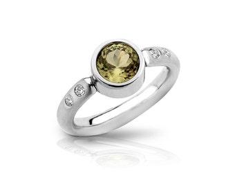 Zultanite® Platinum Ring, 1.91 cts., with four diamonds