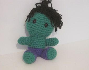 Handmade Crochet Amigurumi Incredible Hulk Doll - Marvel Avengers