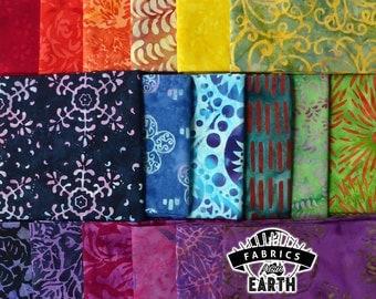 Rainbow Batik 18 Fat Quarter Bundle - Quilting Fabric