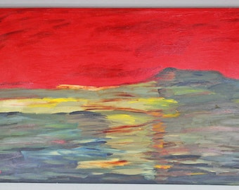 Original Warjone Acrylic Landscape Painting