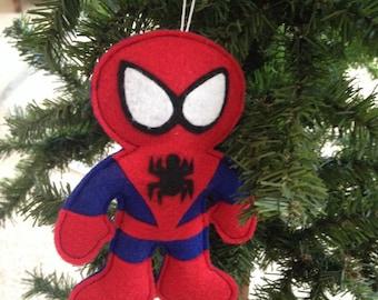 Spiderman Felt Ornament