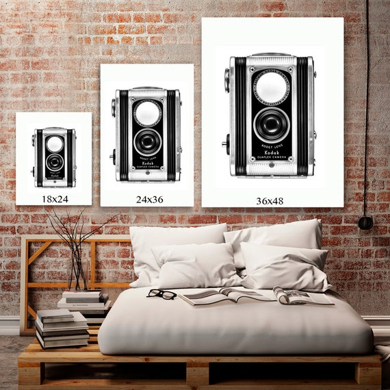 Hipster Bedroom: HIPSTER ROOM DECOR Black And White Art Rustic Industrial