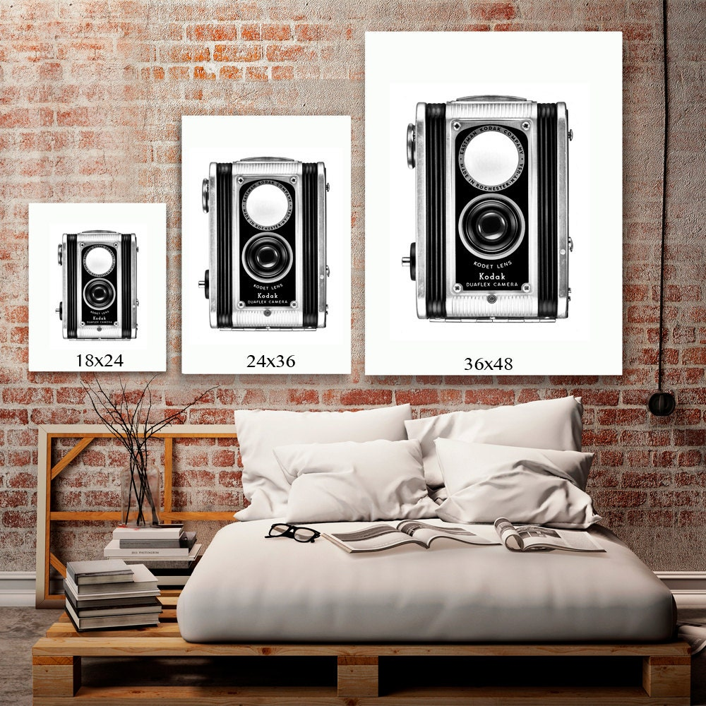 Hipster room decor black and white art rustic industrial for Room decor art