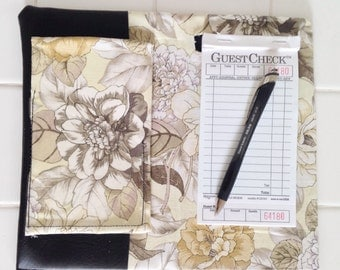Custom Made Server Book - Pale Yellow Floral