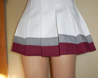 Save by the Bell White Skirt Cheerleader Uniform Football Game Cosplay Costume